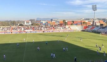 La afición del Algeciras muestra su descontento contra el Sevilla FC. Twitter/AlgecirasCF
