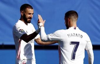 El Madrid encontró ante la SD Huesca lo que tanto tiempo llevaba buscando. EFE