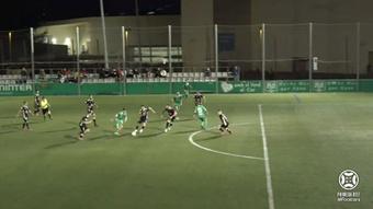 El Cornellà venció por 1-0 frente al Albacete. Captura/Footters