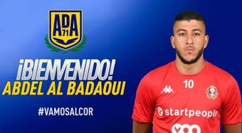 El delantero Al Badaoui llega procedente de la liga Belga. Twitter/AD_Alcorcon