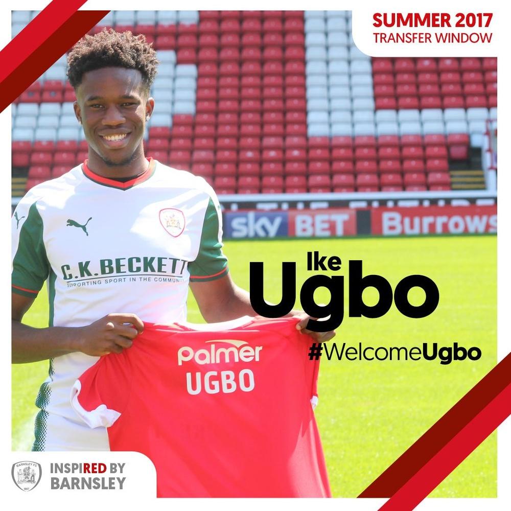 Ike Ugbo, nuevo jugador del Barnsley. BarnsleyFC