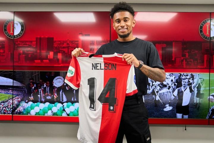 Arsenal empresta Nelson ao Feyenoord. Feyenoord