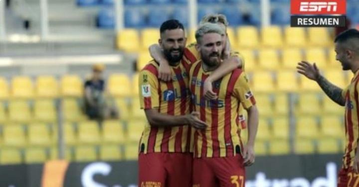 El Lecce eliminó al Parma en la primera ronda de la Coppa Italia. Captura/ESPN