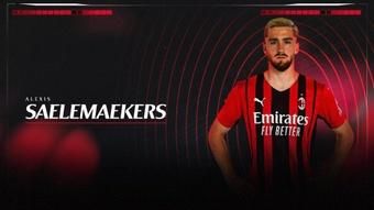 El Milan anunció la renovación de Alexis Saelemaekers hasta 2026. Twitter/acmilan