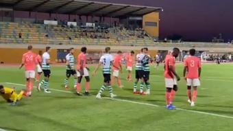 El Sporting de Portugal se impuso 2-0 ante el Angers en pretemporada. Captura/Twitter/Sporting_CP