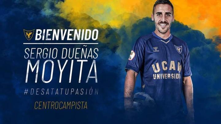'Moyita' llega al UCAM Murcia. UCAMMurciaCF