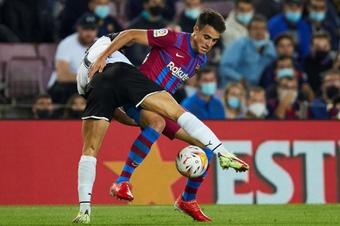 Eric García lamentó la derrota y aseguró que mereció más el Barça. EFE
