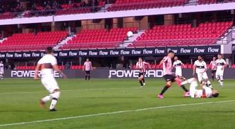 Estudiantes La Plata y Platense empataron a uno en la decimotercera jornada. Captura/Fanatiz