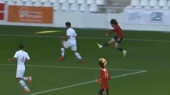 Fabio Blanco brilla con las categorías inferiores de España. Captura/NoA