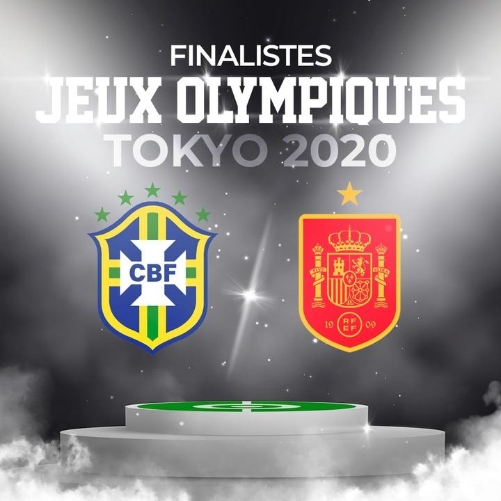Finale Brésil-Espagne aux Jeux olympiques de Tokyo. AFP