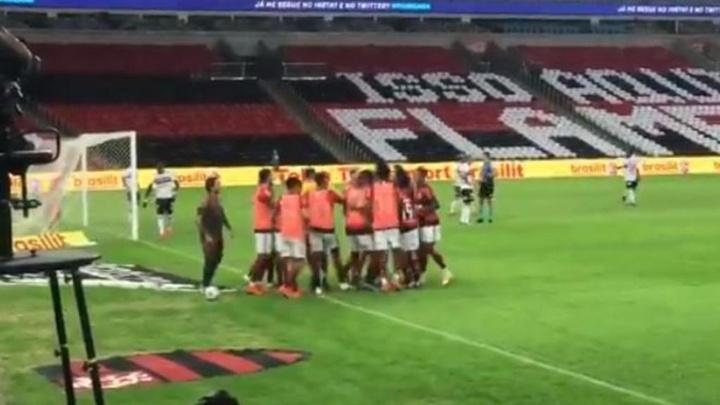 Flamengo endosó un 5-1 a Sao Paulo. Captura/Twitter/Flamengo