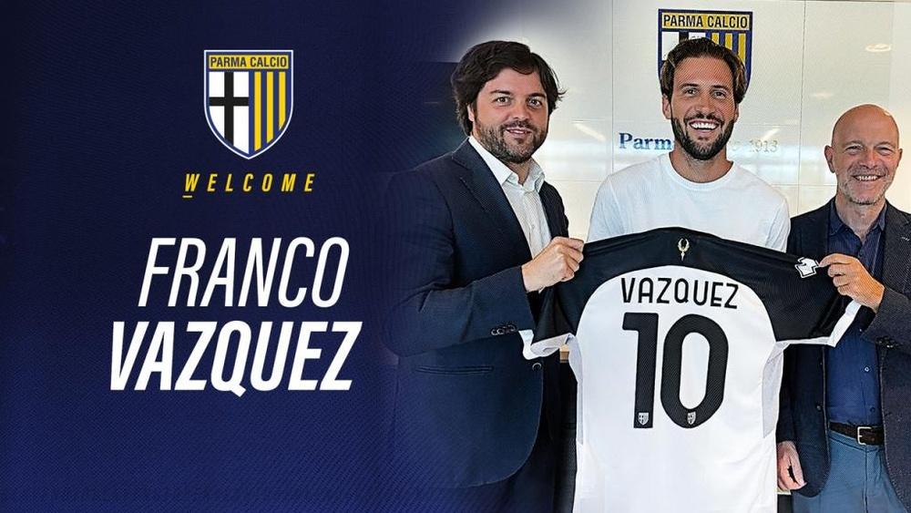 Franco Vázquez ha firmado con el Parma hasta 2023. 1913ParmaCalcio