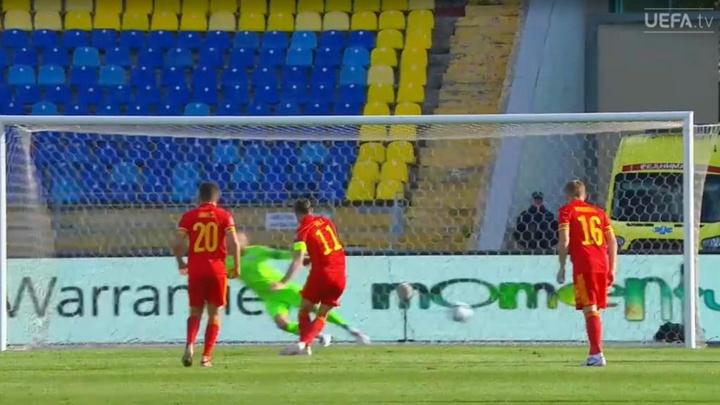 Bale marcó para Gales en Bielorrusia. Captura/UEFATV