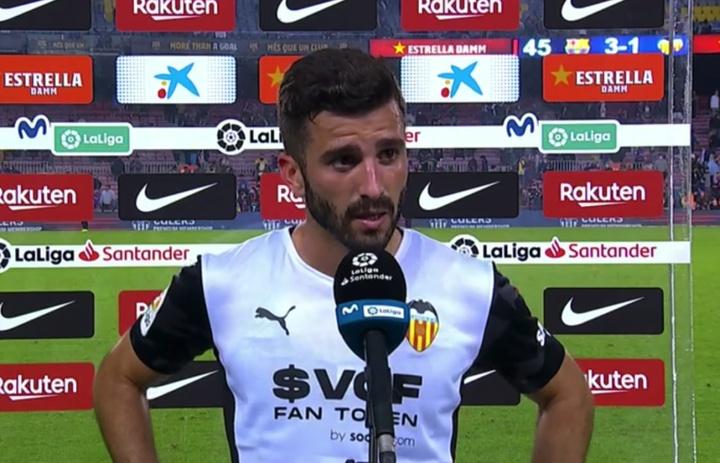 Gayà habló tras el partido en el Camp Nou