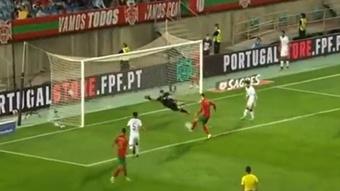 Cristiano no perdonó a Catar y agrandó su leyenda goleadora. Captura/beINSports
