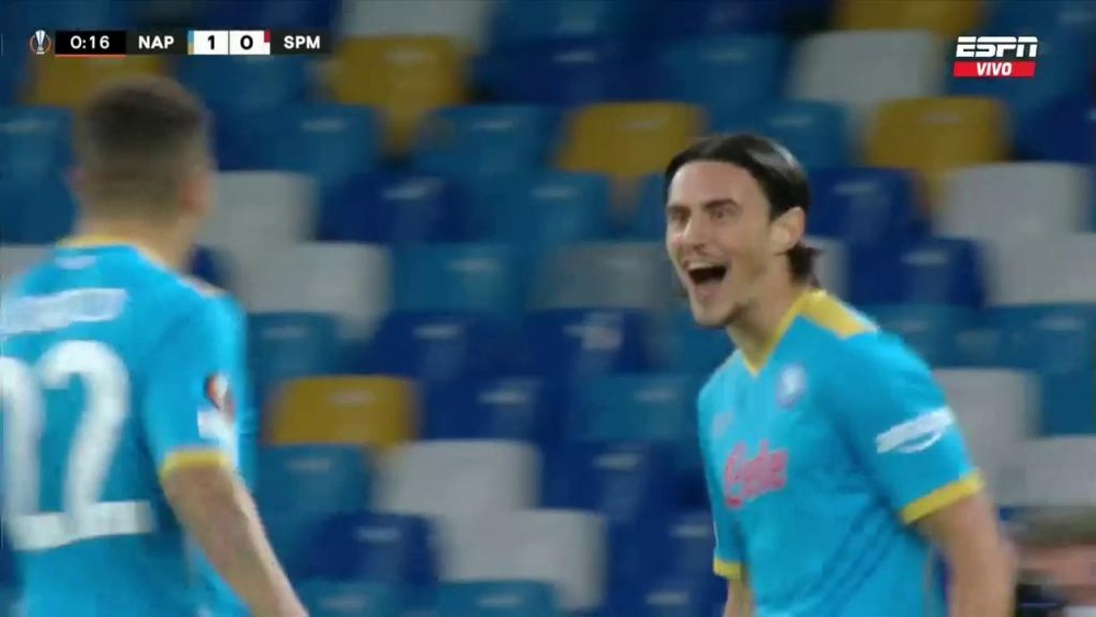 Elmas porta in vantaggio il Napoli. ESPN