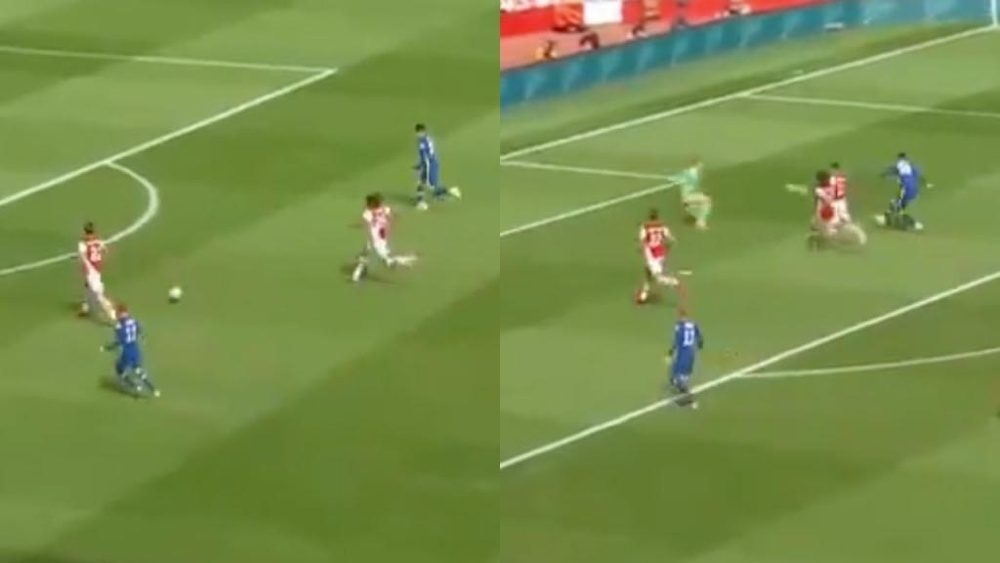 Havertz opened the scoring. Screenshots/ArsenalFC