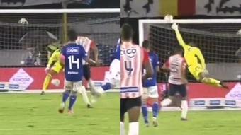 Homer Martínez marcó un golazo. Capturas/WinSports