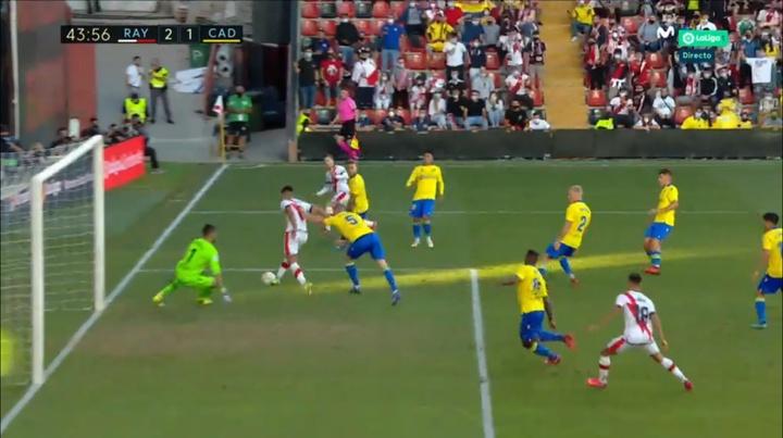 Falcao enchaîne les buts avec le Rayo. Capture/MovistarLaLiga