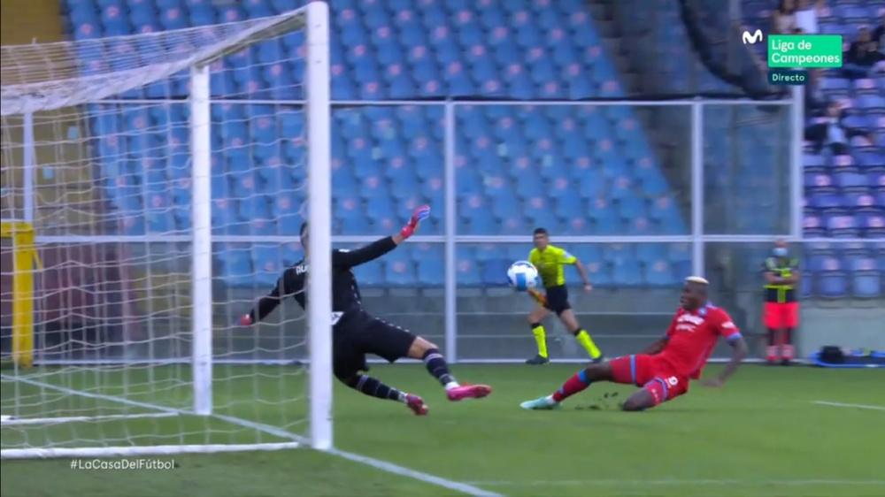 Osimhen porta in vantaggio il Napoli. AFP