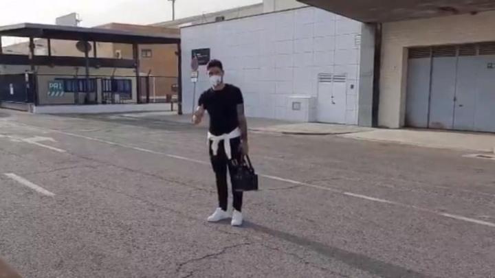 Gonzalo Montiel, listo para empezar su andadura en el Sevilla. Twitter/Captura/mpedrero80