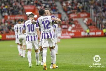 Plata y Roque celebran el 0-2. LaLiga