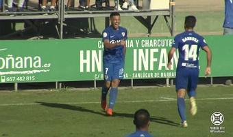 El Linares Deportivo venció 0-2 al Atlético Sanluqueño. Captura/Footters