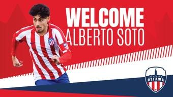 Alberto Soto seguirá vistiendo de rojiblanco. Twitter/atletiOttawa
