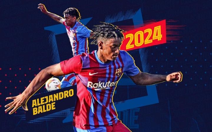 O Barça renova com Alejandro Balde até 2024. FCBarcelona