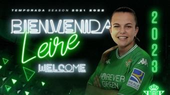 Leire Peña ha firmado hasta 2023. RealBetisBalompié