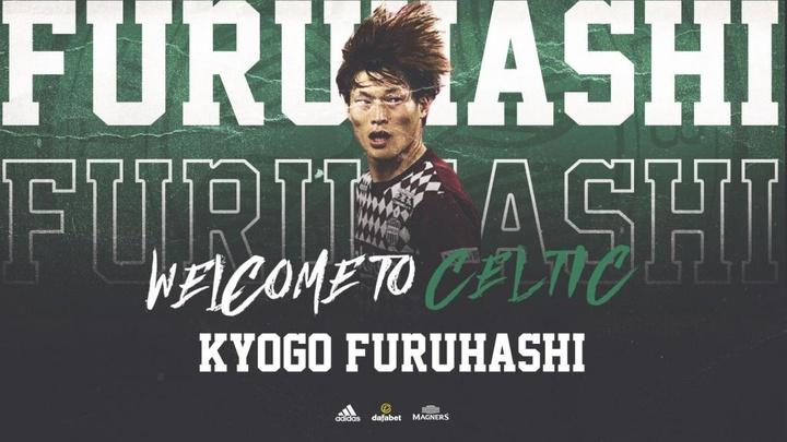 Le Japonais Kyogo Furuhashi débarque au Celtic. CelticFC