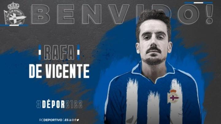 Rafa de Vicente ha llegado gratis a Riazor. RCDeportivo