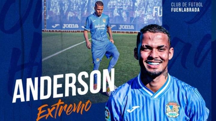 Anderson jugará esta temporada en el Fernando Torres. CFFuenlabrada