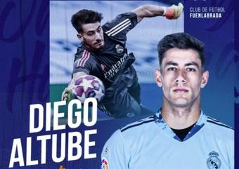Altube jugará en Segunda División el próximo curso. CFFuenlabrada