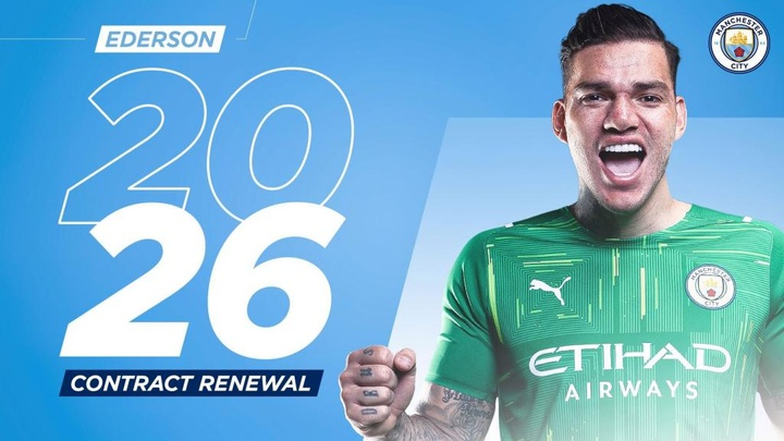 Ederson is under contract with City until 2026. ManCity