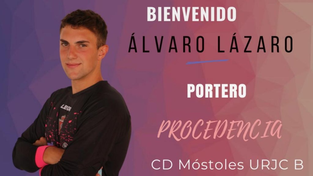 Álvaro Lázaro defenderá la meta del Real Aranjuez. Twitter/realaranjuez