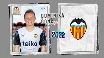 Dominika aterriza en Mestalla procedente del Milan. ValenciaCF