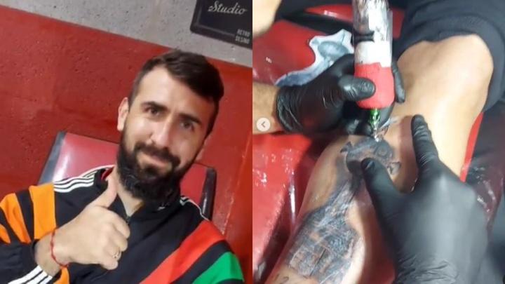 Pratto se tatuó la Copa Libertadores conseguida en 2018. Instagram/gustavonicolastattoo