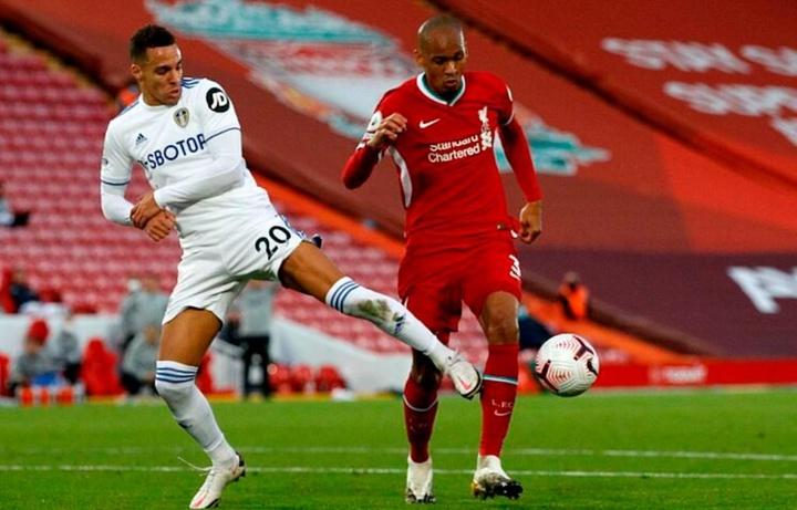 Fabinho renova com o Liverpool até 2026. AFP