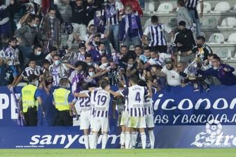 El Real Valladolid confía en la denominada 'media inglesa'. LaLiga/Archivo