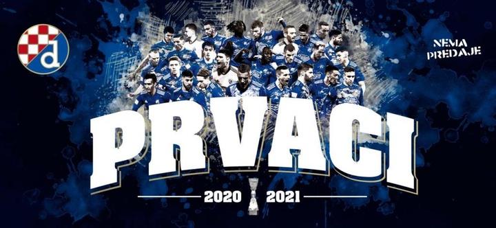 El Dinamo se alzó con el título a falta de tres jornadas para el final. GNKDinamo