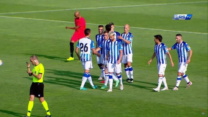 La Real golea a la SD Huesca en su primera toma de contacto. Youtube/RealSociedad