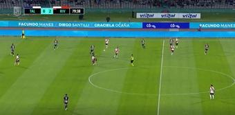 River Plate venció 0-2 ante Talleres de Córdoba. Captura/Fanatiz