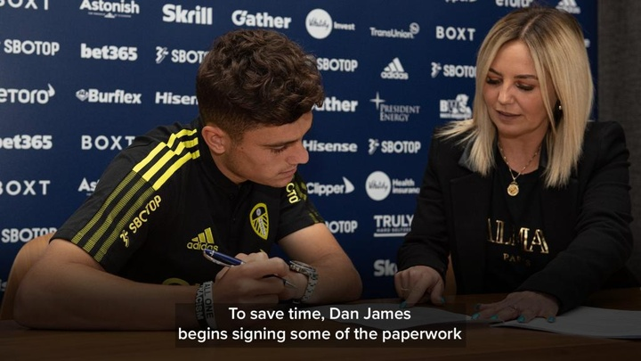 Leeds have confirmed the purchase of Daniel James. Twitter/LUFC