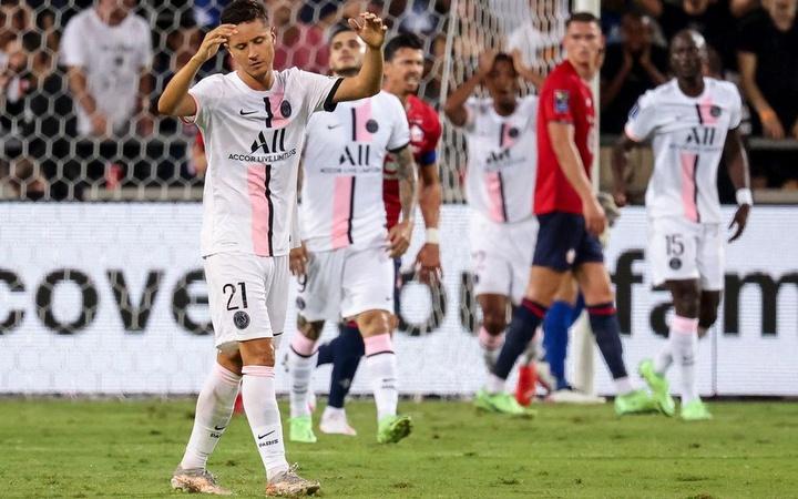 El Lille se impuso al PSG en la Supercopa de Francia. AFP