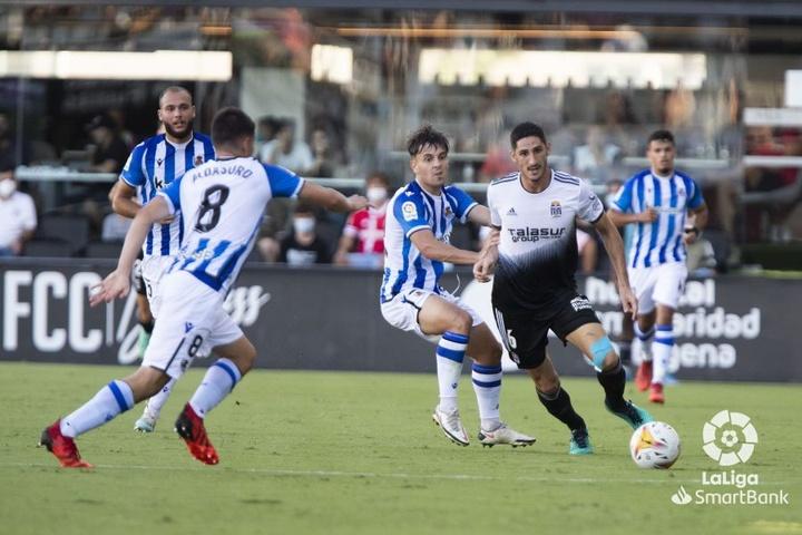 El Cartagena se llevó los tres puntos ante el Sanse gracias a un gol de Ortuño en el 93'. LaLiga