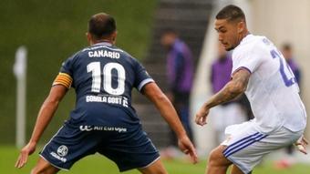 Empate entre el Real Madrid Castilla y el Atlético Baleares. Twitter/LaFabricaCRM