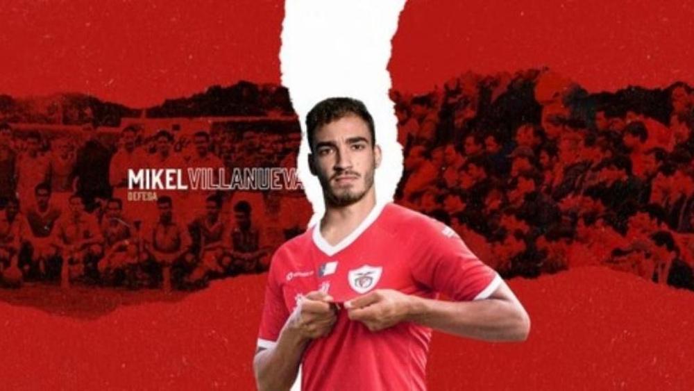 Mikel Villanueva se marcha a Portugal. Twitter/CD_SantaClara