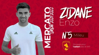 Enzo Zidane, nuevo jugador del Rodez. OfficielRAF