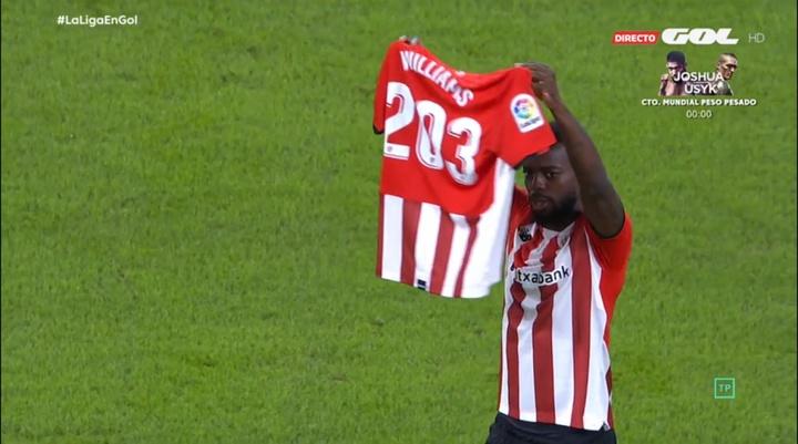 Williams superó a Larrañaga como jugador de la Liga con más partidos jugados seguidos. Captura/GOLTV